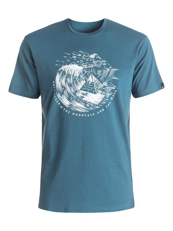 0 Garment Dye Engraved - Tee-Shirt Bleu EQYZT04323 Quiksilver