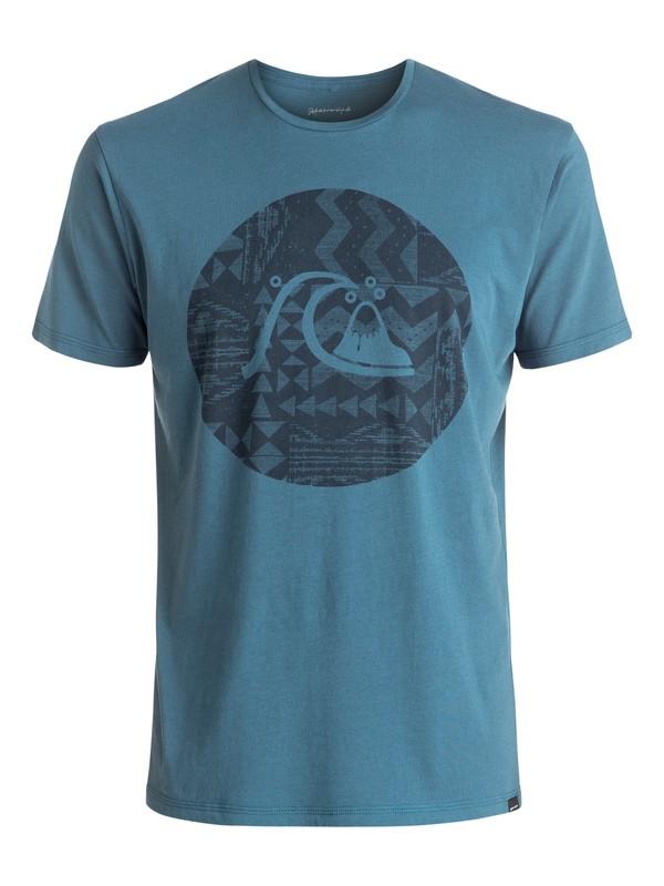 0 Garment Dye Circle Bubble - Tee-Shirt Bleu EQYZT04325 Quiksilver