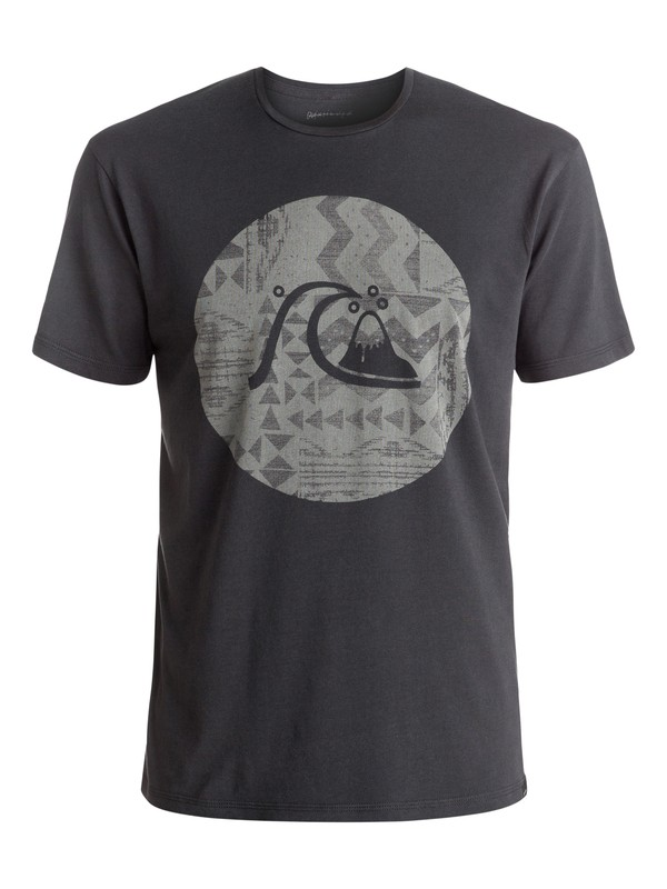 0 Garment Dye Circle Bubble - Tee-Shirt Noir EQYZT04325 Quiksilver