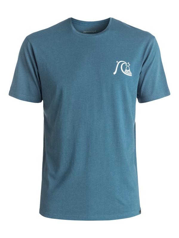 0 Garment Dye Mellow Dingo - Tee-Shirt Bleu EQYZT04332 Quiksilver