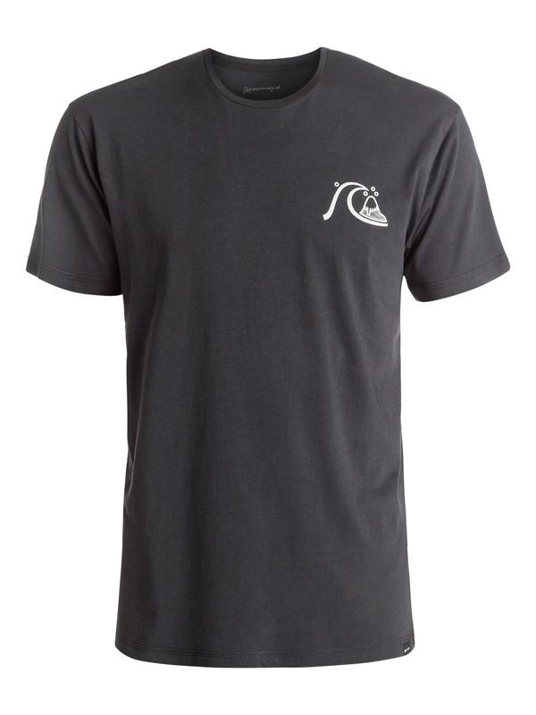 0 Garment Dye Mellow Dingo - Tee-Shirt Noir EQYZT04332 Quiksilver