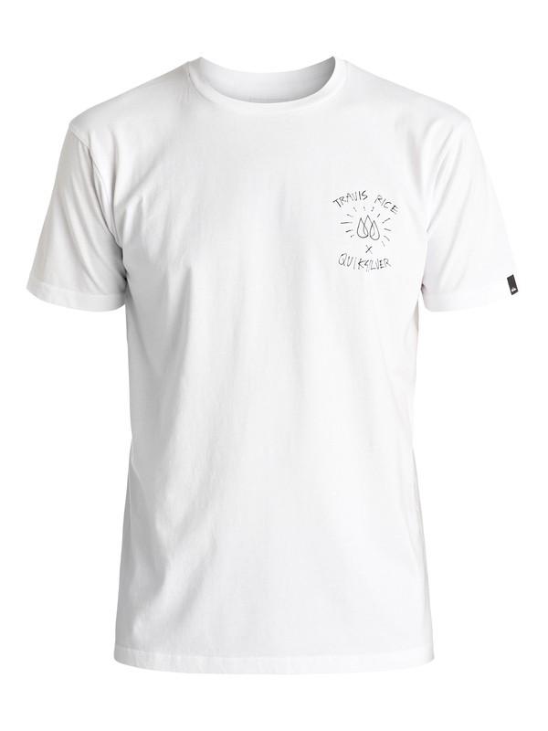 0 Travis Rice - Tee-Shirt Blanc EQYZT04397 Quiksilver