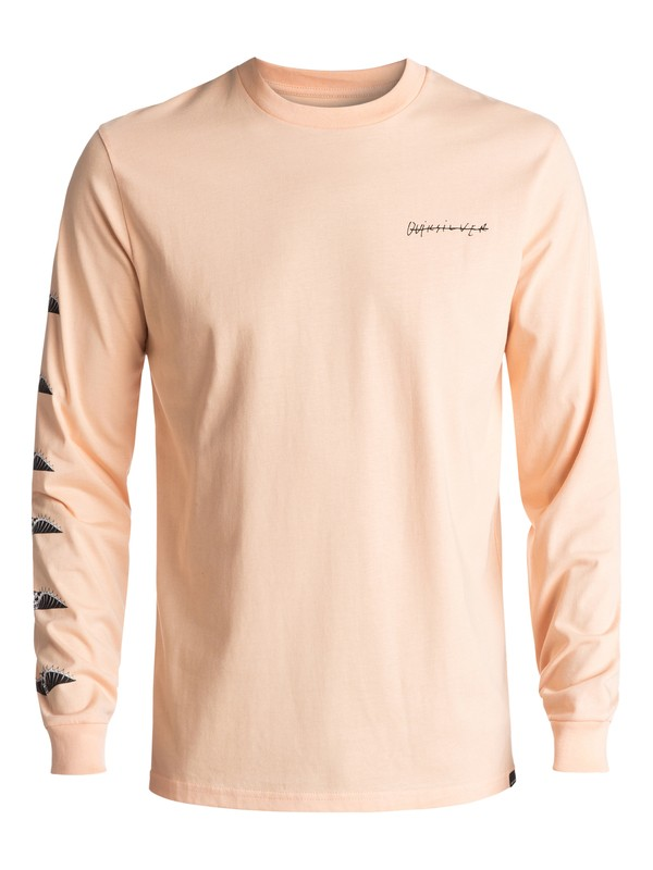 0 Malibu Motion Long Sleeve Tee Orange EQYZT04470 Quiksilver