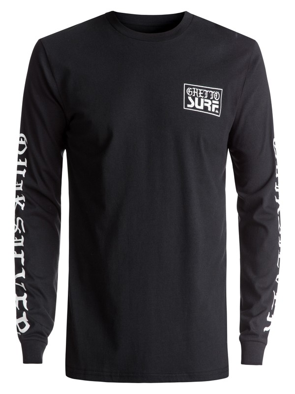 0 Ghetto Surf Long Sleeve Tee Black EQYZT04471 Quiksilver