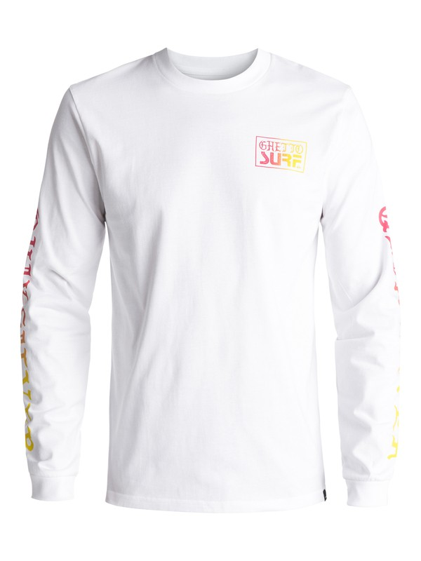 0 Ghetto Surf Long Sleeve Tee White EQYZT04471 Quiksilver