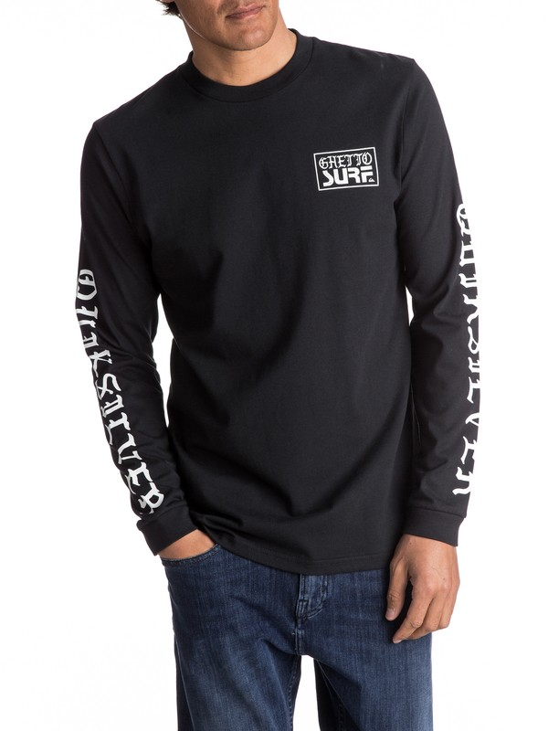 0 Ghetto Surf Long Sleeve Tee  EQYZT04471 Quiksilver
