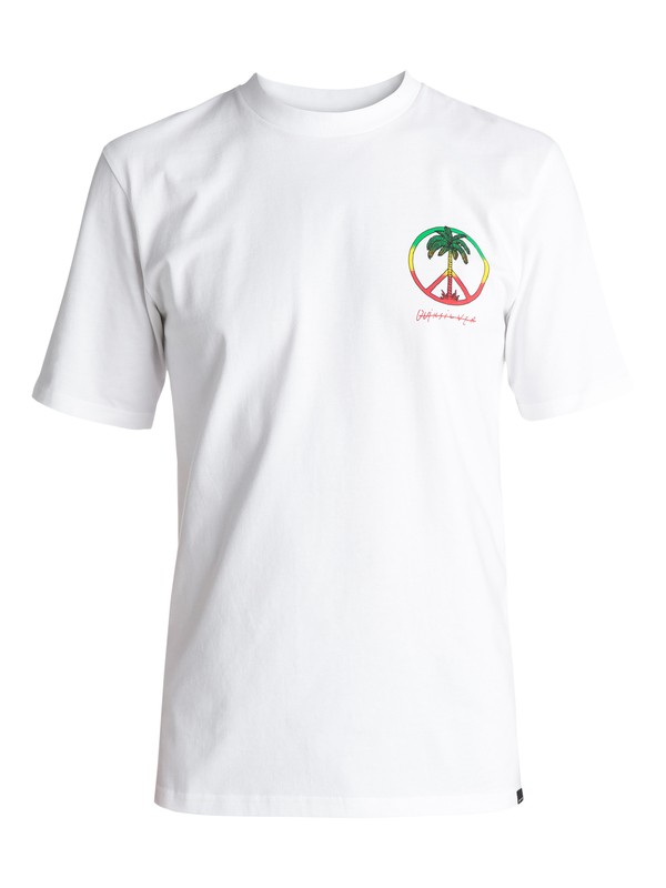 0 Peace On The Beach - Tee-Shirt Blanc EQYZT04475 Quiksilver