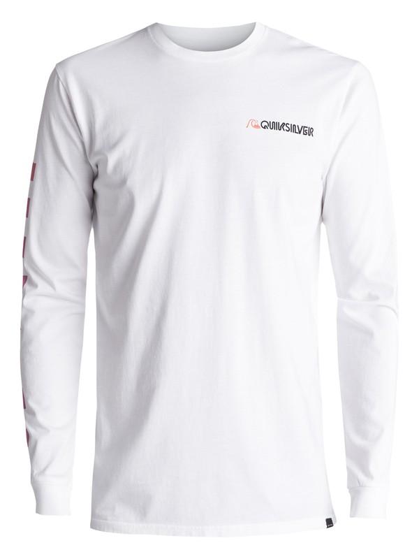 0 Past & Present - T Shirt à manches longues Blanc EQYZT04488 Quiksilver