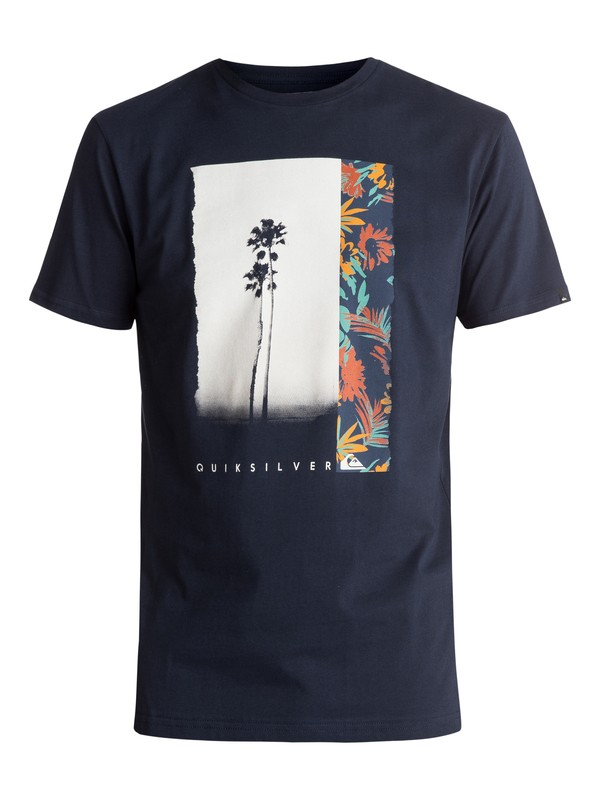 0 Classic Meridian - Tee-Shirt Bleu EQYZT04510 Quiksilver