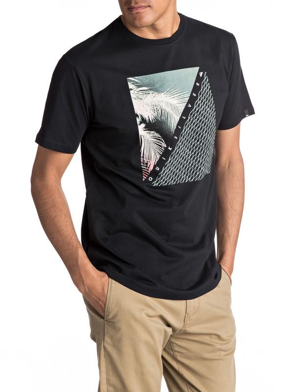 0 Classic Coast Lines - Tee-Shirt Noir EQYZT04512 Quiksilver