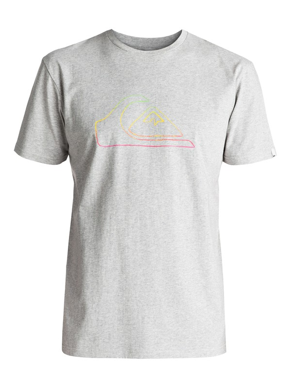 0 Classic Jungle Mountain - T Shirt Gris EQYZT04530 Quiksilver