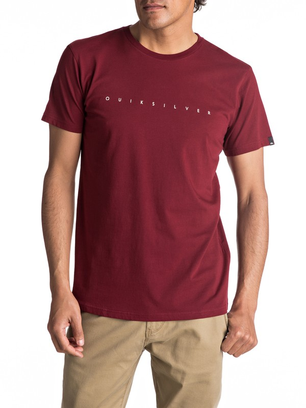 0 Premium East Clean Turn - T Shirt col rond Rouge EQYZT04542 Quiksilver