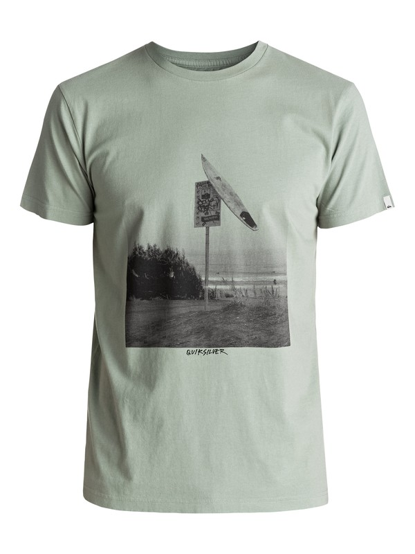 0 Premium East Smashed - T-Shirt Grün EQYZT04548 Quiksilver