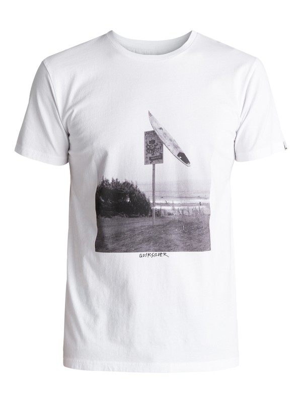 0 Premium East Smashed - T Shirt col rond Blanc EQYZT04548 Quiksilver