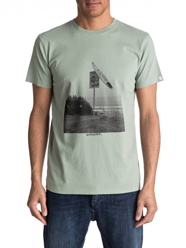 0 Premium East Smashed - T Shirt col rond  EQYZT04548 Quiksilver