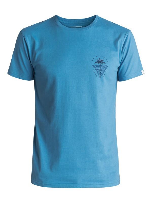 0 Sust East Palm Break - T Shirt col rond Bleu EQYZT04549 Quiksilver
