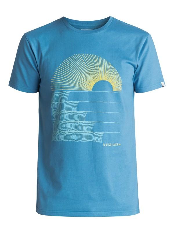 0 Sust East Morning Glide - T Shirt Bleu EQYZT04550 Quiksilver