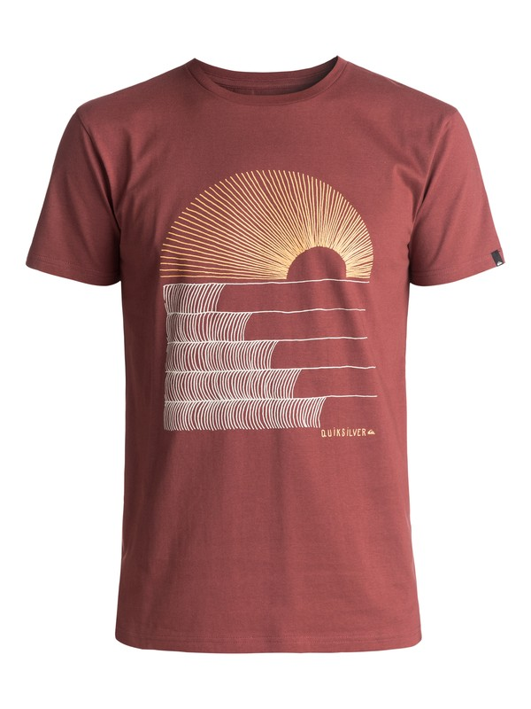 0 Sust East Morning Glide Tee Brown EQYZT04550 Quiksilver