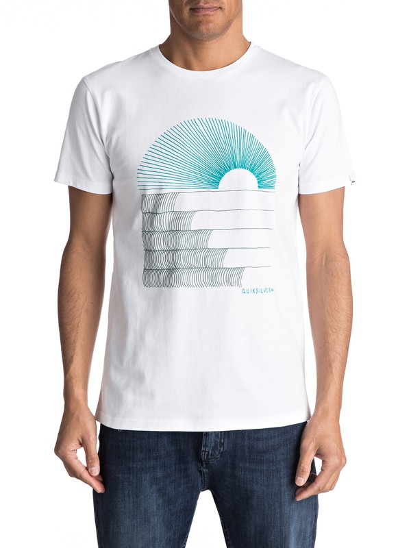 0 Sust East Morning Glide - T Shirt Blanc EQYZT04550 Quiksilver
