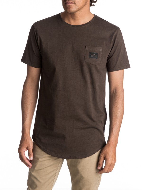 0 Scallop East Woven Tee Brown EQYZT04555 Quiksilver