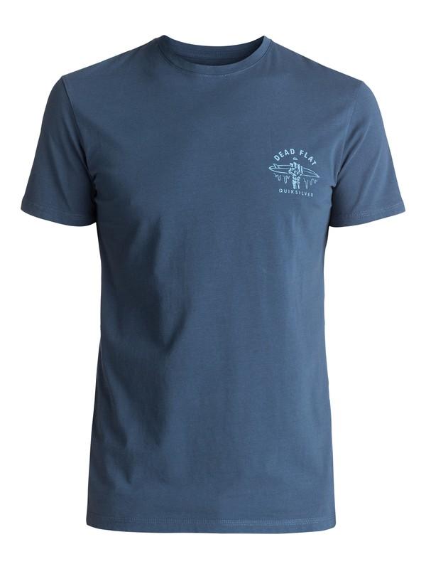 0 Garment Dye Dead Flat - Tee-Shirt Bleu EQYZT04556 Quiksilver