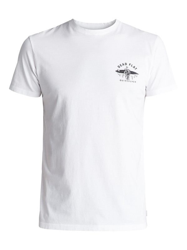 0 Garment Dye Dead Flat - Maglietta White EQYZT04556 Quiksilver