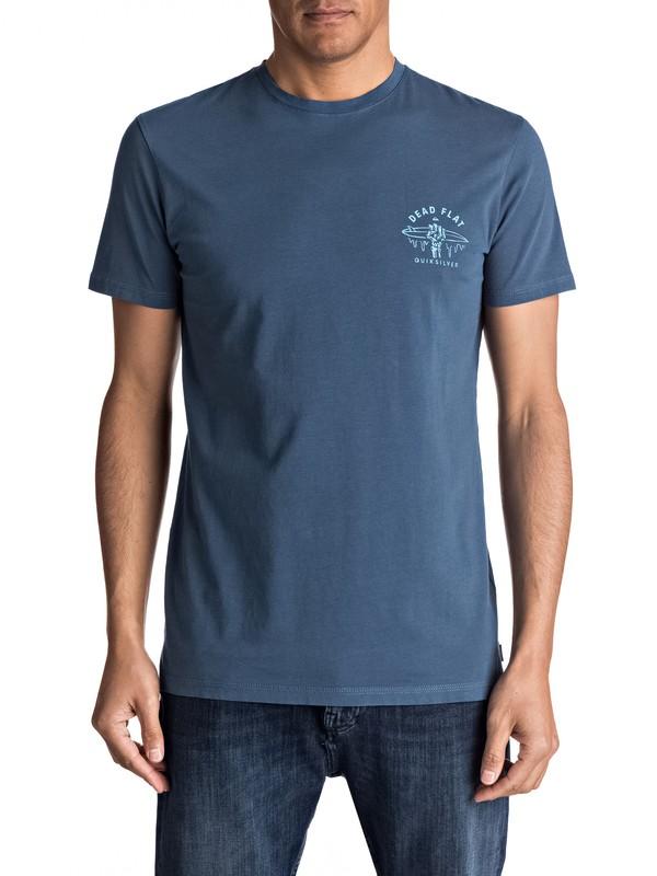 0 Garment Dye Dead Flat - Maglietta Blue EQYZT04556 Quiksilver