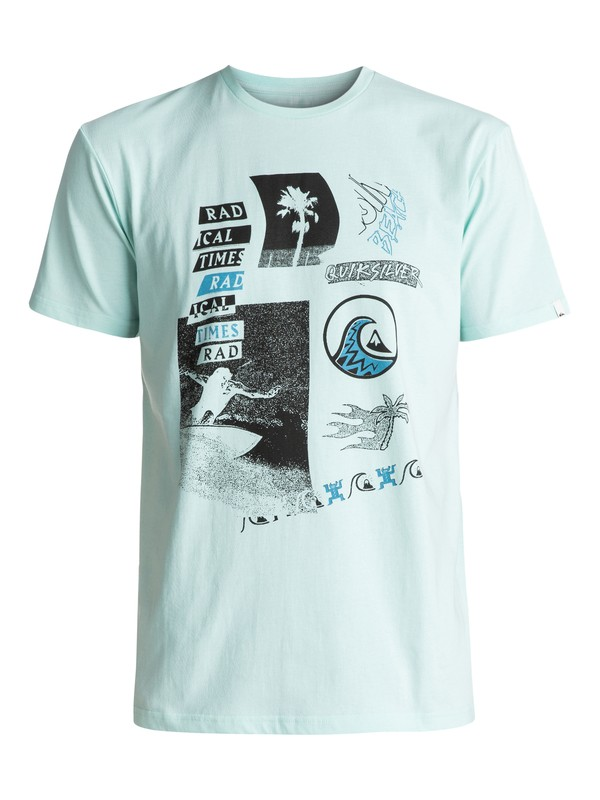 0 Classic Venice Bliss - Tee-Shirt Bleu EQYZT04557 Quiksilver