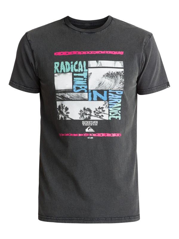 0 Speciality Radical Trip - Tee-Shirt Noir EQYZT04560 Quiksilver