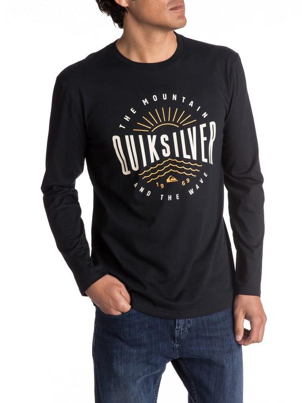 0 Classic Mad Wave - T Shirt à manches longues Noir EQYZT04561 Quiksilver