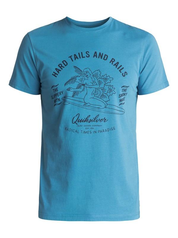 0 Garment Dye Hard Tails - Tee-Shirt Bleu EQYZT04562 Quiksilver
