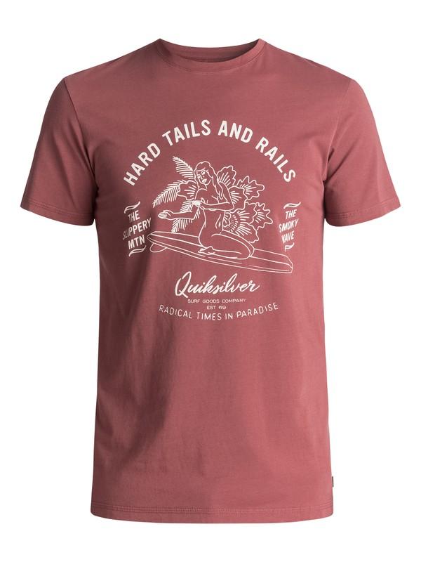 0 Garment Dye Hard Tails - Maglietta Brown EQYZT04562 Quiksilver