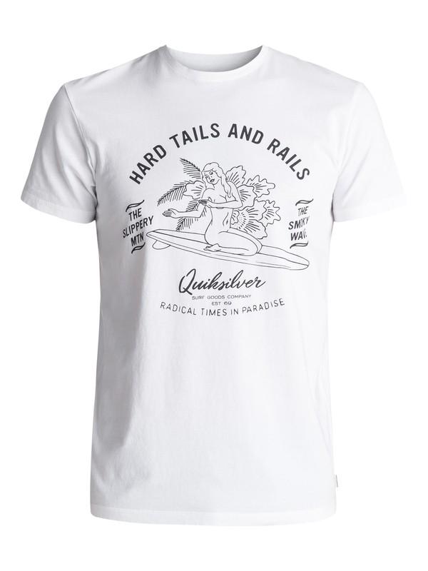 0 Garment Dye Hard Tails - Maglietta White EQYZT04562 Quiksilver