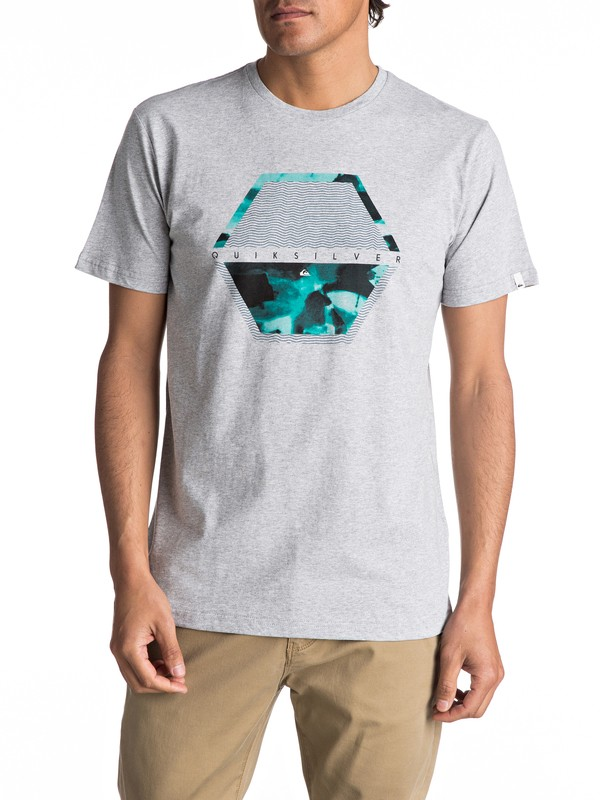 0 Classic Comfort Place - Maglietta Gray EQYZT04563 Quiksilver