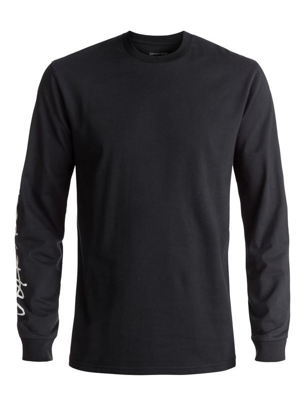 0 Men's Beach Spray Long Sleeve Tee Black EQYZT04593 Quiksilver
