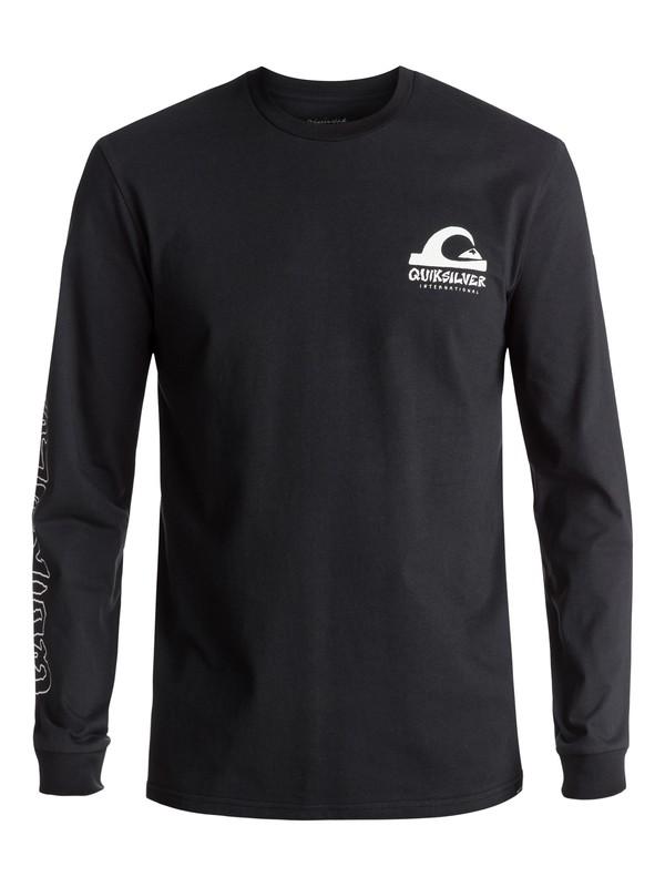 0 Men's Quik International Long Sleeve Tee Black EQYZT04594 Quiksilver