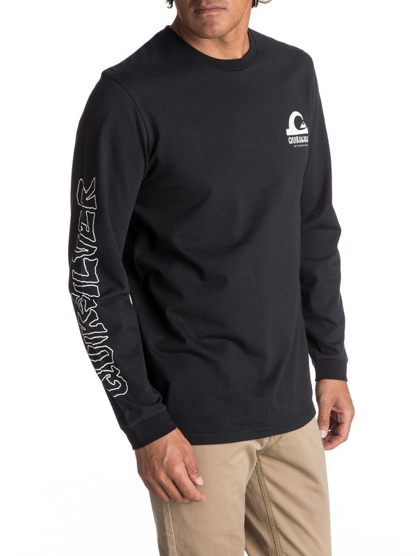0 Men's Quik International Long Sleeve Tee  EQYZT04594 Quiksilver