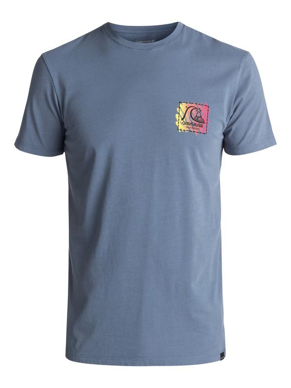 0 Men's Neon Scratch Tee Blue EQYZT04595 Quiksilver