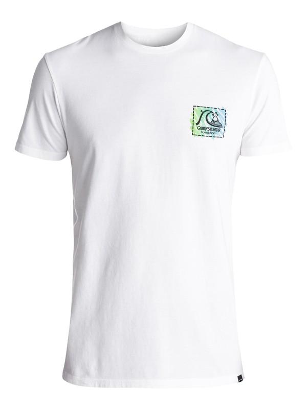 0 Men's Neon Scratch Tee White EQYZT04595 Quiksilver