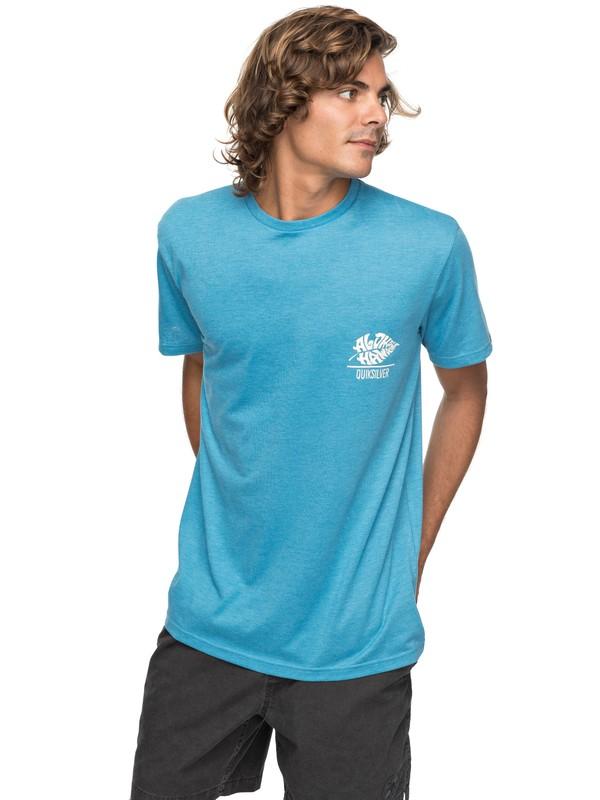 0 Heather Original Taro - T Shirt col rond Bleu EQYZT04742 Quiksilver