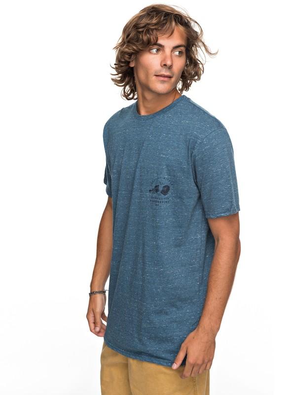 0 Organic Long Lost - T Shirt col rond Bleu EQYZT04743 Quiksilver