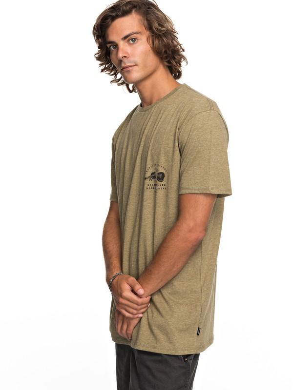 0 Organic Long Lost - T-Shirt Beige EQYZT04743 Quiksilver