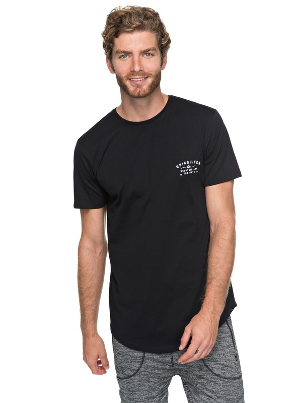 0 Scallop Spacer Facer - T Shirt col rond Noir EQYZT04744 Quiksilver