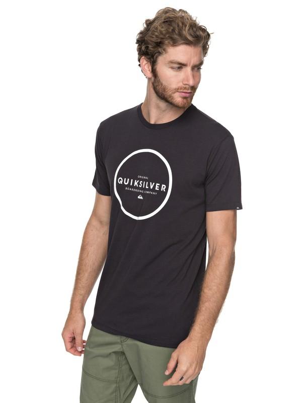 0 Hunter Down - T shirt de sport Noir EQYZT04746 Quiksilver