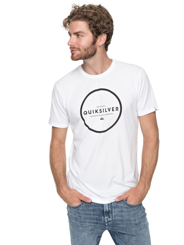 0 Hunter Down - Technical T-Shirt White EQYZT04746 Quiksilver