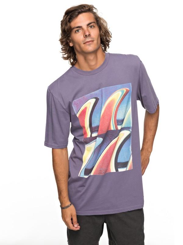 0 Fin Fanatic Tee Purple EQYZT04755 Quiksilver