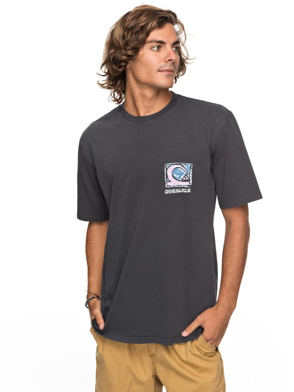 0 Durable Dens Way - T Shirt col rond Noir EQYZT04759 Quiksilver