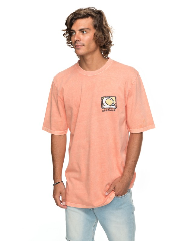 0 Durable Dens Way Tee Orange EQYZT04759 Quiksilver