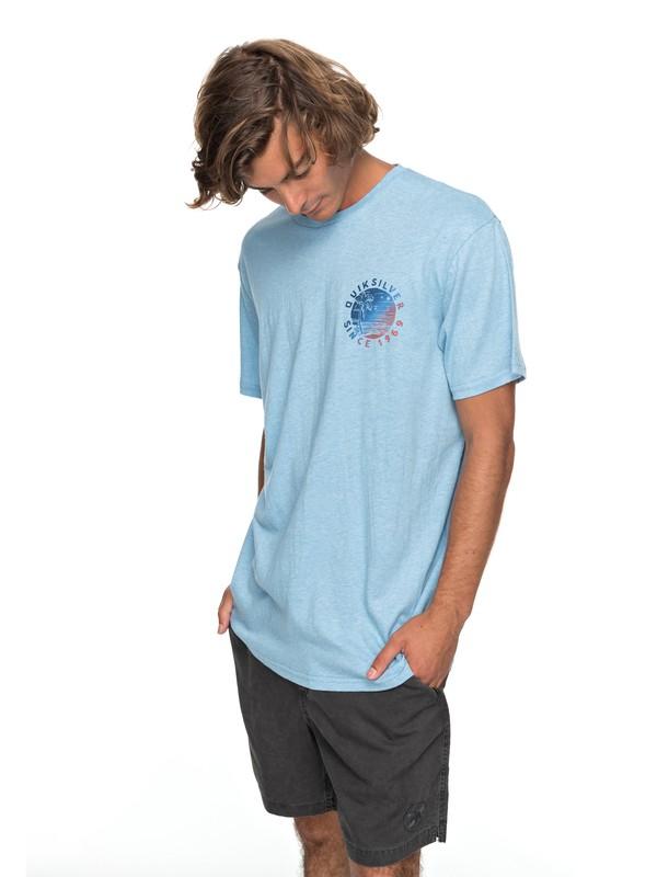 0 Rocky Rights - T-shirt col rond Bleu EQYZT04766 Quiksilver