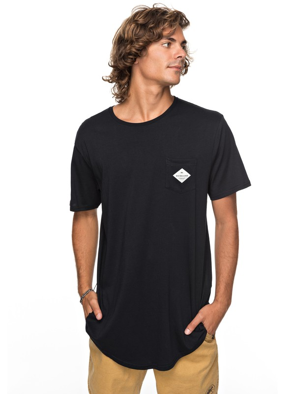 0 Scallop Loves Pocket Tee Black EQYZT04769 Quiksilver
